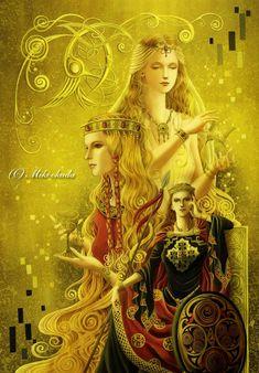 Women of Celtic Myth by mikioku.deviantart.com on @deviantART