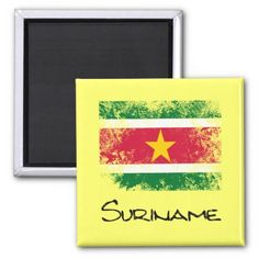 #Suriname Fridge Magnet