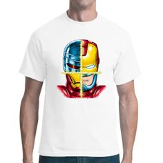RoboMan Ironman Motiv, Neuheiten, Männer & Frauen, Totenköpfe & Gothic, Totenköpfe, Fashion / Mode, Biker Iron Man, Held, Comics, Mens Tops, Fashion, Men And Women, Moda, Iron Men, Comic