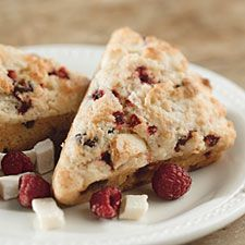 Girls with Recipes: White Chocolate Raspberry Scones