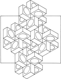 click to see printable version of optical illusion 14 coloring page