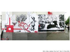 With L'Atlas, Laleteia, Pow, Sun7, Tanc, G. 2004. Stencil Graffiti, Stencils, Artworks, Street Art, Polaroid Film, Kids Rugs, Decor, Decorating, Kid Friendly Rugs