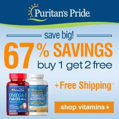 50% OFF Puritan's Pride Coupons & Promo Codes 2015