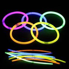 100 Unids/lote Multi Color Fluorescencia luminosa Diversión Palillo Del Resplandor Pulseras Collares Partido Evento Luz de Navidad Fiestas Ceremonia Juguetes