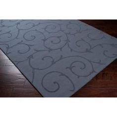 @Overstock - A dimensional, swirling vine pattern highlights this charming rug. Constructed of soft wool, this plush rug is finished with a soft color palette.http://www.overstock.com/Home-Garden/Blue-Canyon-Wool-Rug-8-x-10/6479852/product.html?CID=214117 $341.36