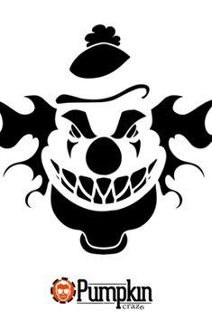 Scary Clown Pumpkin Pattern