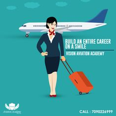 Vision Aviation Academy - Build An Entire Career On a Smile. Get Certification Training In - Airline | Airport | Hotel | Travel | Tourism 100% Placement Assistance. Call: 7090226999 #Tourism #Hospitality #Aviation #Airline #Hotel #Travel #Airport #cabincrew #flightattendant #airhostess #cabincrewtraining #FlightattendantTraining #Vision