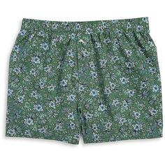 Tommy Bahama Men's Floral Cotton Boxer Shorts (33 CAD) ❤ liked on Polyvore featuring men's fashion, men's clothing, men's underwear, green floral, mens cotton boxers, mens boxers and mens animal print boxers