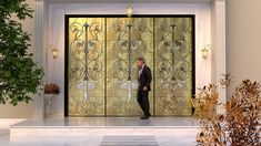 Royal entrance doors Athens - Greece by Yiannis Petkos