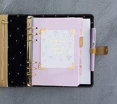 Kikki K - Limited Edition Leather Personal Planner: Gold $79.99