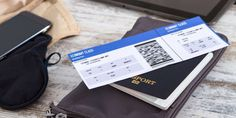 Airline ticket boarding pass and passport: Airline ticket, boarding pass and passport.