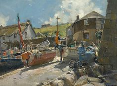 David Curtis Around the Coastlines of Britain and Ireland 2009 - Richard Hagen - Fine Art Gallery Fine Art, Contemporary Watercolor, David Curtis, Painting, Oil Painting, Nautical Painting, British Art, Art, Sea Pictures