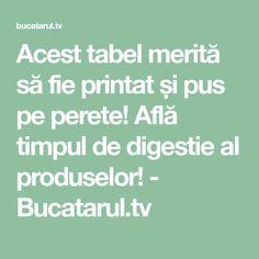 Acest tabel merită să fie printat și pus pe perete! Află timpul de digestie al produselor! - Bucatarul.tv