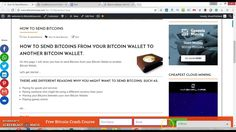 How To Send Bitcoins From Your Bitcoin Wallet.
