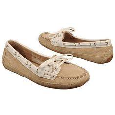Women's Sebago Bala Taupe Suede/White Shoes.com