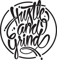 Hustle & grind by Made by Mighty Graffiti Doodles, Graffiti Drawing, Graffiti Alphabet, Graffiti Words, Graffiti Artists, Graffiti Lettering Fonts, Tattoo Lettering Fonts, Typography, Hustle And Grind