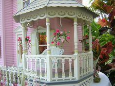 Pretty pink porch ~ Dollhouses by Robin Carey..dollhouse but I want it on my house : )