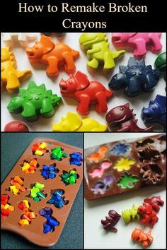 Here's a simple way to salvage those wax crayons. Making Crayons, Diy Crayons, Broken Crayons, Diy Crafts To Sell, Diy Crafts For Kids, Projects For Kids, Fun Crafts, Wax Crayon Art, Melted Crayon Crafts