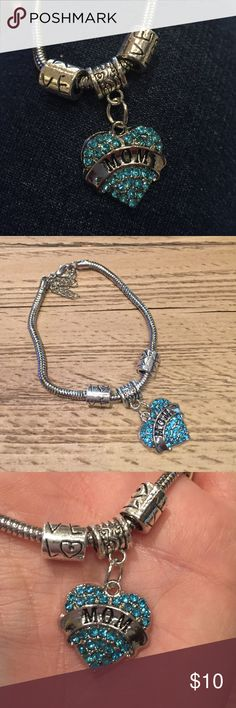 """New Mom bracelet great gift 100% Brand new and high quality Material:Alloy,rhinestone Chain Length: Approx 7.5""""(inches) Color: Sliver Packing: 1pc Bracelet Jewelry Bracelets"""