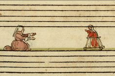 """johanoosterman: """"The first paper boy? The Cambrai Chansonnier is a marvelous four part song book made for Zeghere van Male, a prominent inhabitant of 16th century Bruges who was born before 1510 and died in 1601. His family is depicted on an epitaph..."""