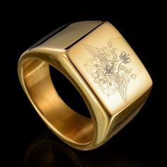 Gold Color Stainless Steel Ring