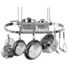 Range Kleen Oval Hanging Pot Rack (stainless Steel) – MNM Gifts