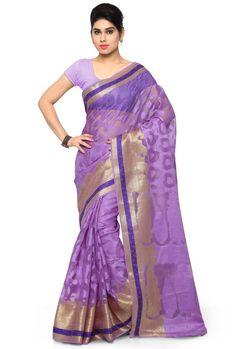 Lavender Banarasi Silk Saree