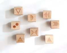 mix & match mini geometric stamps.