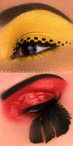 """Testing eye looks for """"Give Good Face."""" 2010"""