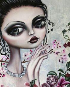 ' Vintage Rose ' by Marie Larkin Portraits, Portrait Art, Digital Portrait, Sassy, Contemporary Art Artists, Wonder Art, Garden Of Earthly Delights, Weird Pictures, Pop Surrealism