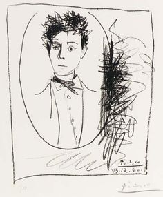 Portrait d'Arthur Rimbaud by PABLO PICASSO - 1960