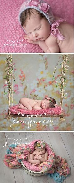 How adorable is this photo shoot?.. Love Love Love the swing photo prop!.. © 2015 Jennifer Nace Photography newborn photos, sports themed newborn photos #baby #photography #newborn