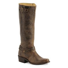 Double H ® Women's Chocolate Distressed Riding Boot - Sq Toe, found on polyvore.com
