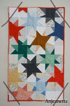 This star wallhanging is not as complicated as it appears. No pattern.