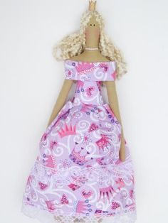Cloth doll Princess fabric doll lovely by HappyDollsByLesya