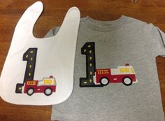 GreatStitch Fire Truck Birthday Shirt 1st Birthday by GreatStitch, $24.95
