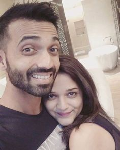Send-off selfie from Mrs. Radhika Rahane to Ajinkya Rahane as Team India left for West Indies. - http://ift.tt/1ZZ3e4d