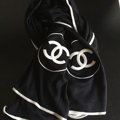 big Chanel cashmere scarf