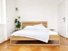 - Pure ash bed in solid ash wood Oak Bedroom, Bedroom Wall, Bedroom Decor, Bedroom Ideas, Wood Beds, Diy Bed, Furniture, Home Decor, Bauhaus Design