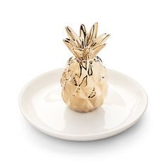 LC Lauren Conrad Pineapple Ceramic Ring Holder Tray