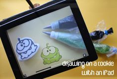 """How to Draw on a Cookie with an iPad -- for people with Android devices, search the Google Play store with """"camera lucida"""" and you'll find similar apps"""