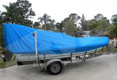 Carver boat cover for skiff boats with a poling platform. Carver Boats, Boat Covers, Sun Lounger, This Is Us, Action, Outdoor Decor, Crafts, Platform, Chaise Longue
