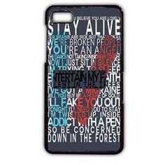 Twentyone Pilots Quotes TATUM-11491 Blackberry Phonecase Cover For Blackberry Q10, Blackberry Z10