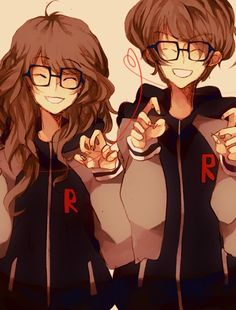 Anime couple- they could be twins