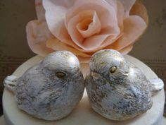 Rustic Love Birds Wedding Cake Topper by LollieBlossomBridal