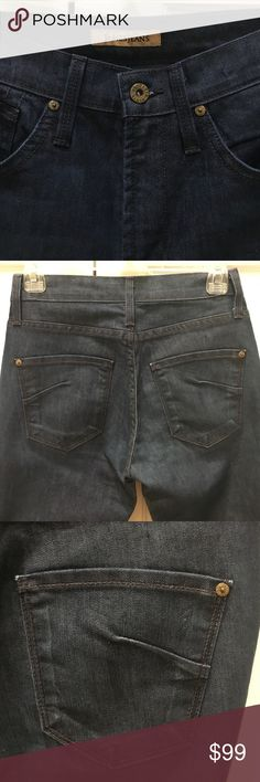 James Jeans High Class Edition Bootcut Denim Brand new never worn, tags fell off. Size 25. Retailed for $210. Amazing fit and amazing dark denim color to match anything in your closet. Wish these fit! There's a reason celebs wear this brand. Shaped the butt nice and holds you in. Great shaping jeans. James Jeans Jeans Boot Cut