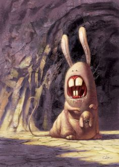 Wanda tried to escape the intervention, but they followed her to the cave, demanding that she give up her funny-bunny.