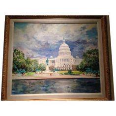 Kamil Kubik (Czechoslovakian/American, 1930-2011 The Capitol $2000