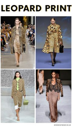 d305c050dc4d Spring summer 2019 fashion trends  leopard print pieces seen at Rochas