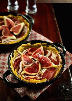 School of Tapas: Ibérico Ham and Figs in Potato Nests - Honest Cooking Fig Recipes, Healthy Recipes, Spanish Tapas, Spanish Food, Good Food, Yummy Food, Fresh Figs, Mindful Eating, Savory Snacks